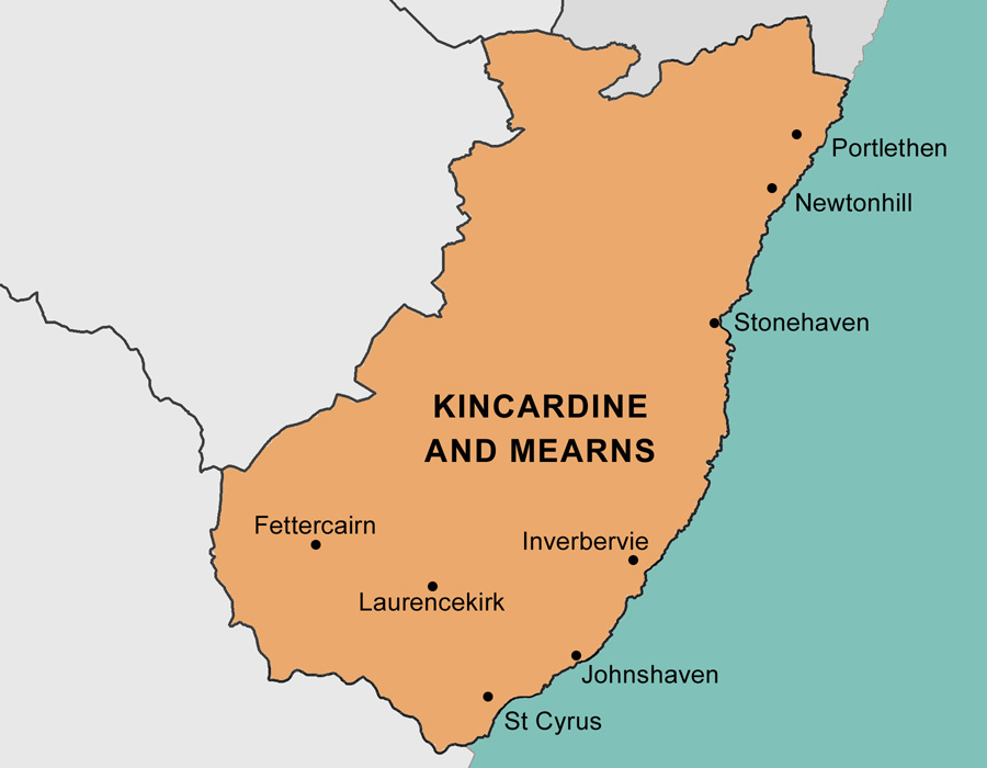 Kincardine and Mearns Area Map